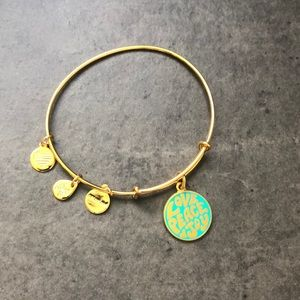 Alex and Ani Love Peace Joy bracelet